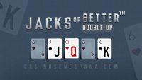 Banner de juego de jacks or better double up