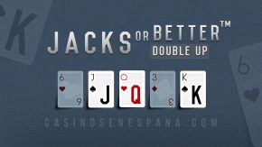 Banner de juego de jacks or better double up