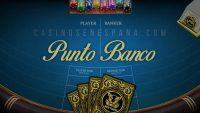 Banner de juego de Punto Banco