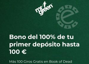 Mr Green Bono de casino